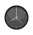 minimalistic black clock icon single isolated vector image vector image