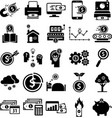 money passive income biz icon collection vector image