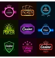 Neon Casino Emblems vector image vector image