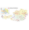 new administrative and political map austria 2020 vector image vector image