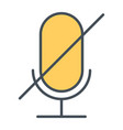 old microphone disabled thin line icon pictogram vector image vector image