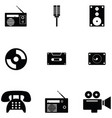 old technology icon set vector image