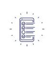 online survey form in phone checklist line icon vector image vector image