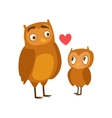 Owl Dad Animal Parent And Its Baby Calf Parenthood vector image