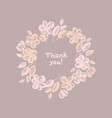 pastel rose shade abstract flower wreath element vector image