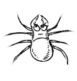 Poisonous spider isolated on white vector image vector image