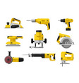 pover electric tools vector image vector image