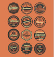 premium quality retro badges collection red vector image vector image