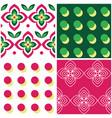 retro geometric midcentury seamless pattern vector image vector image