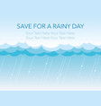 seamless background of the rain and clouds vector image