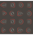 seamless background with player icons vector image vector image
