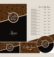 set of design elements for coffee house vector image vector image
