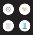 set of job icons flat style symbols with gear vector image vector image