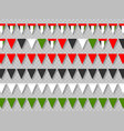 set united arab emirates bunting flags vector image