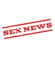 Sex News Watermark Stamp vector image vector image