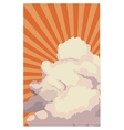 sky sunset clouds shining light retro background vector image