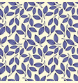 stylized violet leaves seamless pattern vector image vector image