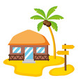 summer time holiday bungalow vector image vector image