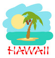 tropical island with palm trees vector image vector image