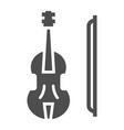 violin glyph icon musical and instrument viola vector image vector image