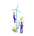 windmill repair - cartoon maintenance worker man vector image vector image