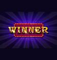 winner retro banner vector image vector image
