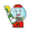 with beer gumball machine mascot cartoon vector image vector image