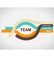 Word spell TEAM on colorful paper stripes with vector image