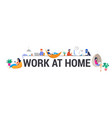 working at home coworking space concept vector image