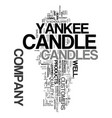 yankee candle company text word cloud concept vector image vector image