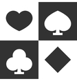 Suits of playing cards vector image