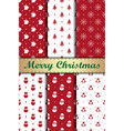 6 different christmas seamless patterns vector image