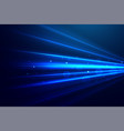 abstract blue technology rays background vector image vector image