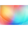 abstract curved colorful background vector image
