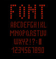 abstract technology apocalypse font and alphabet vector image