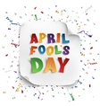 April Fools Day greeting card vector image vector image