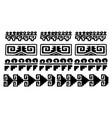 aztec glyphs vector image vector image