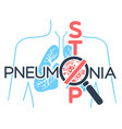 banner pneumonia stop vector image vector image