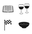bible glasses of wine and other web icon in black vector image vector image