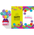 birthday celebration set icons vector image vector image