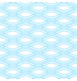 blue wave seamless pattern vector image