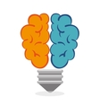 brainstorming thinking idea bulb icon graphic vector image