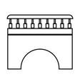 bridge black color icon vector image vector image