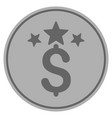 business stars silver coin vector image vector image