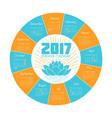 calendar ekadash for 2017 vector image vector image