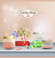 candy shop 3d composition vector image vector image