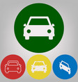 car sign 4 white styles of vector image