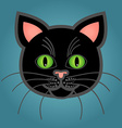 Cartoon black cat vector image vector image