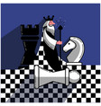chess game chess in a flat style vector image vector image
