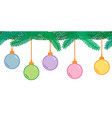 christmas and new year decoration seamless vector image